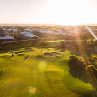 Sunset Golfing Experience after 2pm: 9 Holes of Golf with Motorised Cart just $29.95 Available 7 Days a week